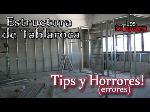 Tips Y Errores En Armado De Estructura De Tablaroca Youtube