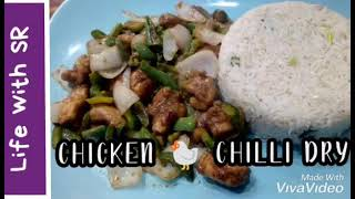 Chinese Chicken Chilli Dry  5 minute recipe  Life with SR