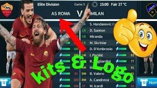 How To Create AS Roma Team Kits & Logo | Dream League Soccer 2019