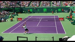 Roger Federer vs Thanasi Kokkinakis (Court Level View) Miami Open 2018 HD