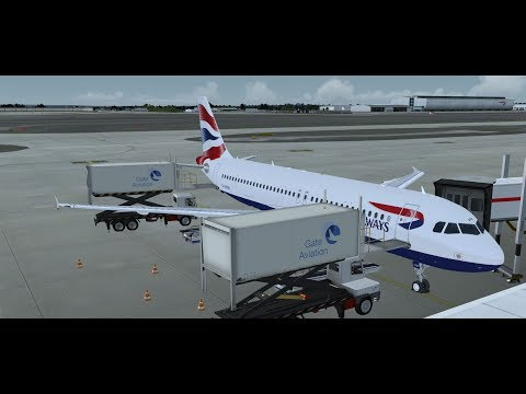 P3DV4: British Airways BAW490 | Heathrow to Gibraltar | FSLABS A320X | VATSIM