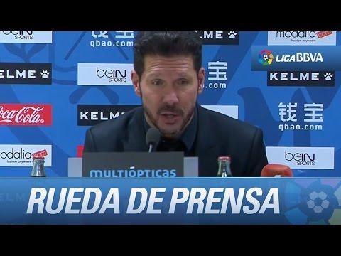 Rueda de prensa de Simeone tras el Rayo Vallecano (0-2) Atlético de Madrid