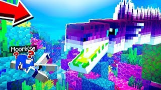 EXPLORANDO O OCEANO no MINECRAFT....