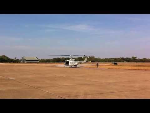 UH-1 H RTAF Start up Engine at C-DAY KORAT AFB