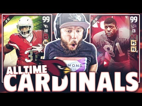 ALL TIME ARIZONA CARDINALS SQUAD BUILDER AND GAMEPLAY - MADDEN 17 ULTIMATE TEAM