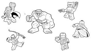 Vẽ Siêu Nhân Người Nhện, Người Khổng Lồ Xanh và Người Sắt   Dạy Vẽ và Tô Màu Cho Bé