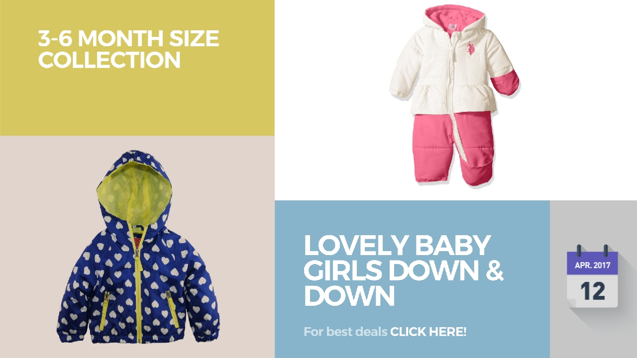 Lovely Baby Girls Down & Down Alternative 3-6 Month Size Collection