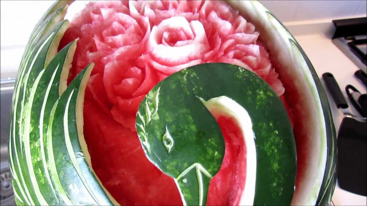 Vegetables carving intaglio frutta e verdura by chef