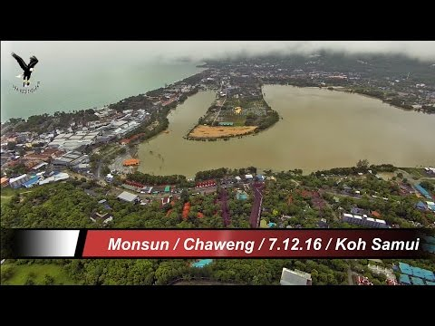 Flooding on Koh Samui-6 / Chaweng area / overflown with my drone