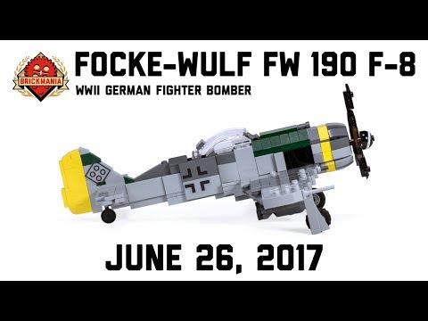 Focke-Wulf Fw 190 F-8 - Custom Military Lego