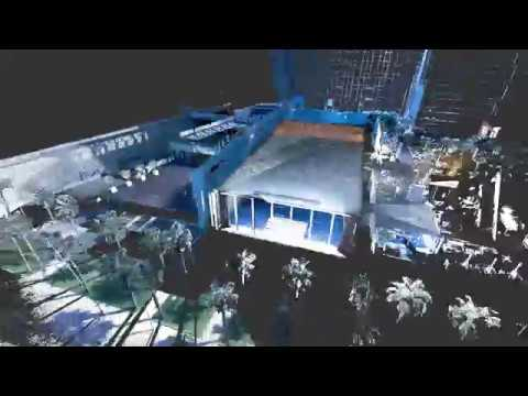 Leica BLK360 3D laser scan of the W Hotel in Barcelona