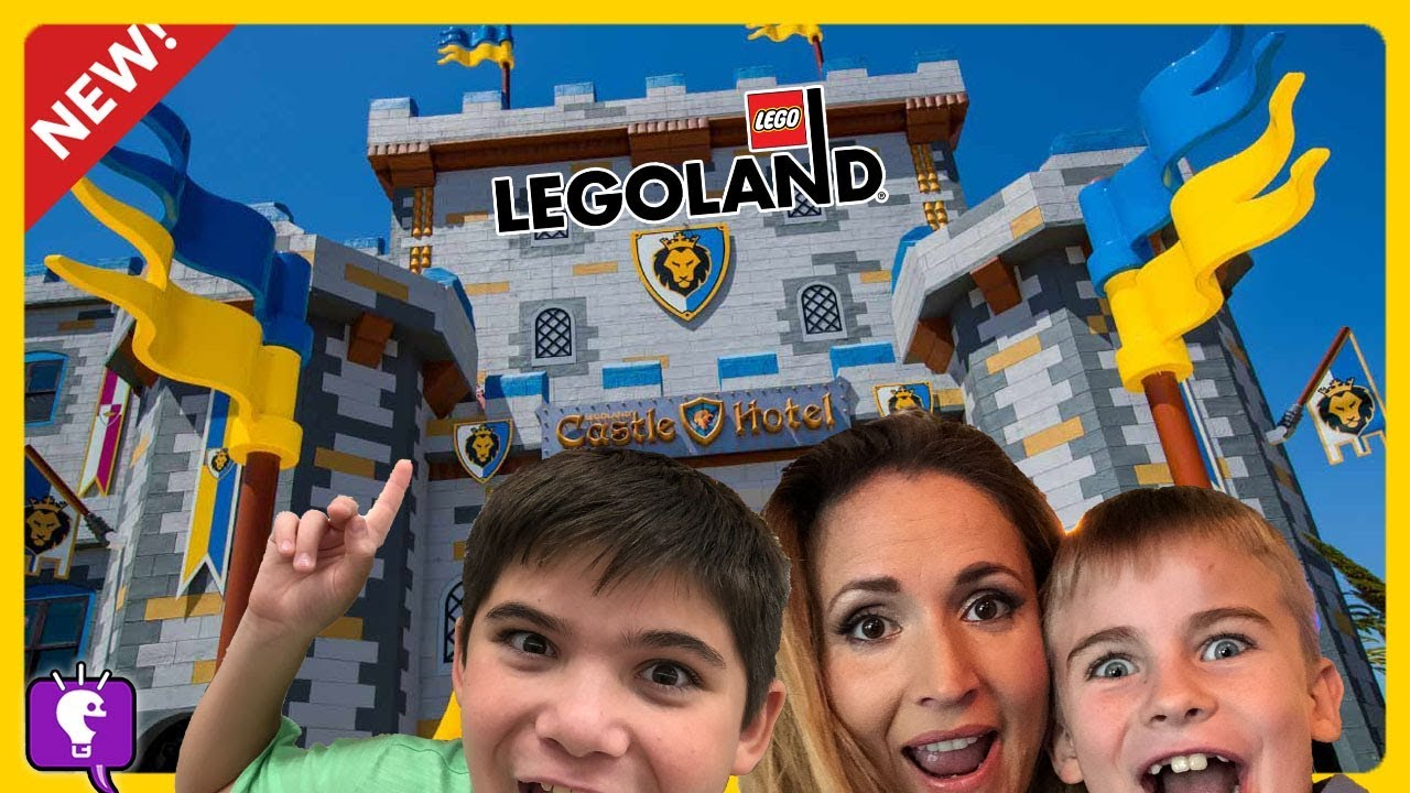 LEGOLAND CASTLE HOTEL! VIP TOUR and Roller Coaster Rides on CALIFORNIA Vacation by HobbyKidsTV