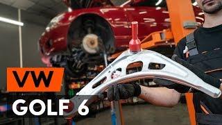Draagarm achter en vóór monteren VW GOLF VI (5K1): gratis video