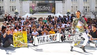 TURFinc showcase YAKfilms Yak to the Bay Oakland Art & Soul festival 2015 TURF Dancing - TURFIN