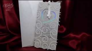 Нежное приглашение на свадьбу А5391