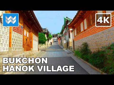 Walking around Bukchon Hanok Village in Seoul, South Korea 【