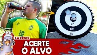 DESAFIO DO ACERTE O ALVO COM TAMPINHAS OU BEBE | DRINK GAMES