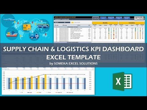 Supply Chain & Logistics KPI Dashboard | Excel Template