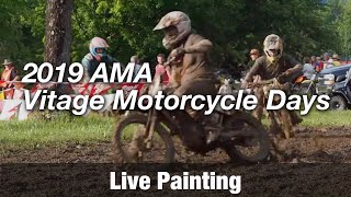 Motorcycle Art Part 87 / 2019 AMA Vitage Motorcycle Days