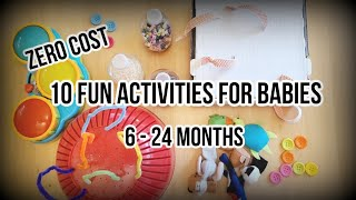 10 Fun Activities For Babies 6-24 Month Old | Diy Baby Entertainment
