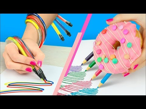 35 Fun And Useful School Supplies DIY Back to School Hacks By 5-Minute Crafts Zone