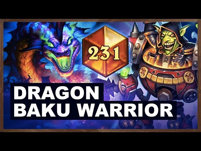 Dragon Baku Warrior High Legend Climb | Rastakhan's Rumble | Hearthstone