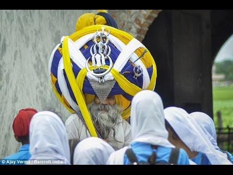 Indian Man Wears 100 Lb Turban