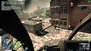 Battlefield 4 92 Killstreak Scout Helicopter Gameplay