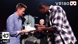 Cutting The KD10 Shoe in Half With What's Inside? / KD YouTube Live LA