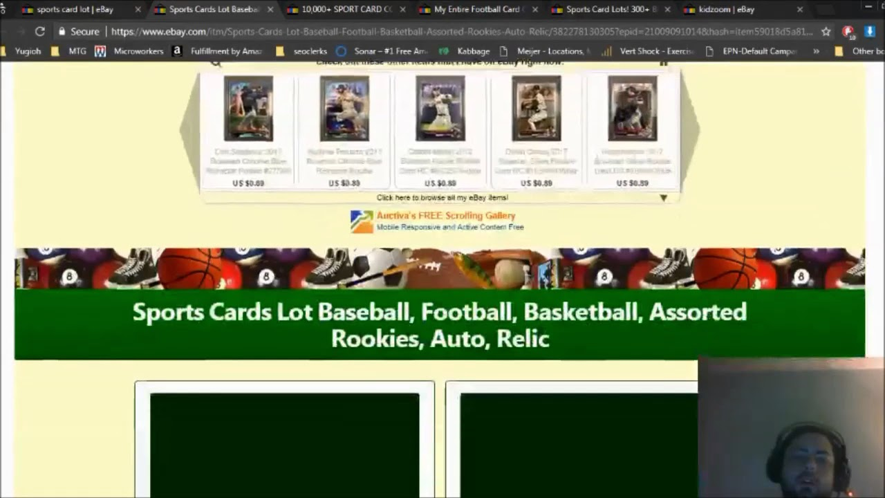 How To Make Money On Ebay Selling Small Sports Card Lots