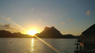Sun Rise at Bora Bora , French Polynesian Dec 01 ,2018