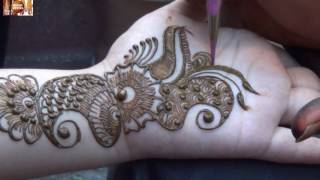 Twisted Bel Mehendi Design On Hand Step By Step:Mehndi 2016