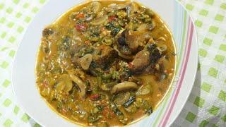 How to make Mushrooms okro soup
