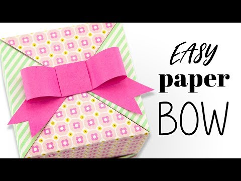 How To Make A Cute Paper Bow - DIY - Paper Kawaii