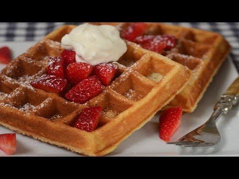 Yeast Waffles Recipe Demonstration - Joyofbaking.com