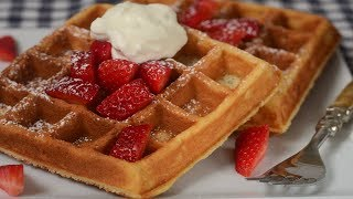 Yeast Waffles Recipe Demonstration - Joyofbaking.com