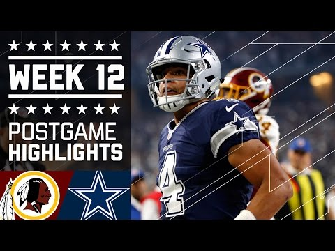 Redskins vs. Cowboys (Week 12) | Game Highlights | NFL on Thanksgiving