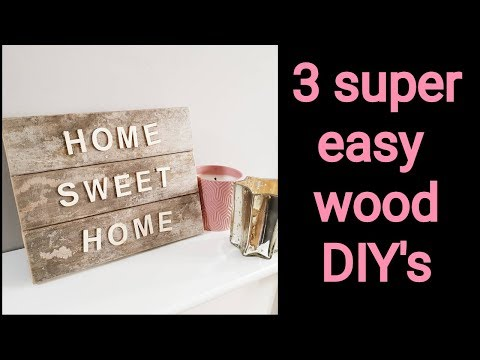 How to make DIY wooden signs
