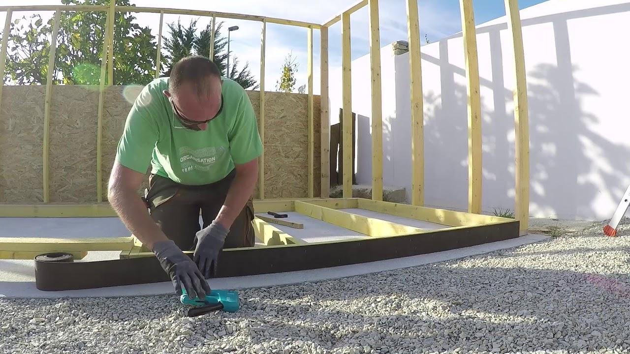 Construction D Un Local En Ossature Bois Youtube