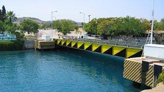 Submersible bridge Isthmia Corinth Canal - Βυθιζόμενη Γέφυρα Ίσθμια