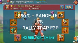 KVK 20 March PART 1 ..Rally Trap F2p Take Rally T5T4..No Reinforcement !! Lord Mobile ..