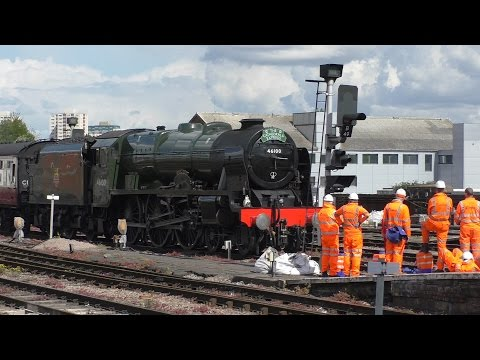 46100 Royal Scot on The Cathedrals Express at Bristol TM  April 26th 2017