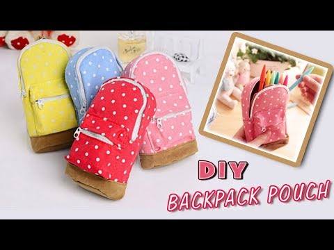 DIY MINI BACKPACK POUCH TUTORIAL //  Money Phone Case Backpack from Scratch