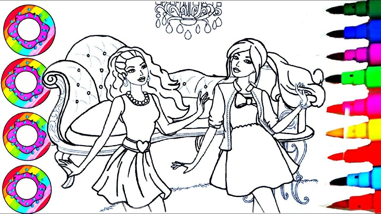 Barbie Egg Coloring Pages