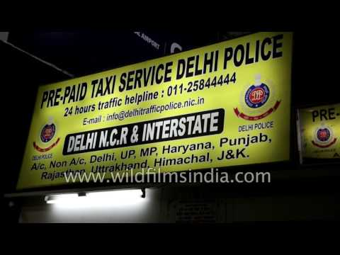 Safest Pre-paid Taxi service at IGI Airport: Delhi Police booth