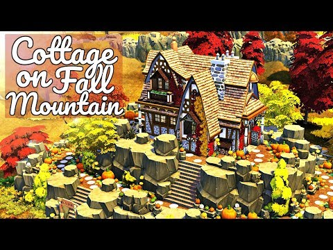 The Sims 4   COTTAGE ON FALL MOUNTAIN   Speed Build