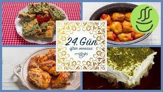 Ramazan 24. Gün İftar Menüsü: Tavuk Tandır - Ispanaklı Börek - Biber Dolması - Etimek Tatlısı