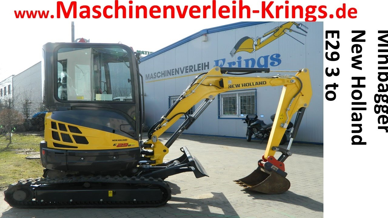 new holland minibagger e 29b sr bagger mini krings k ln bonn mieten leihen maschinenverleih. Black Bedroom Furniture Sets. Home Design Ideas