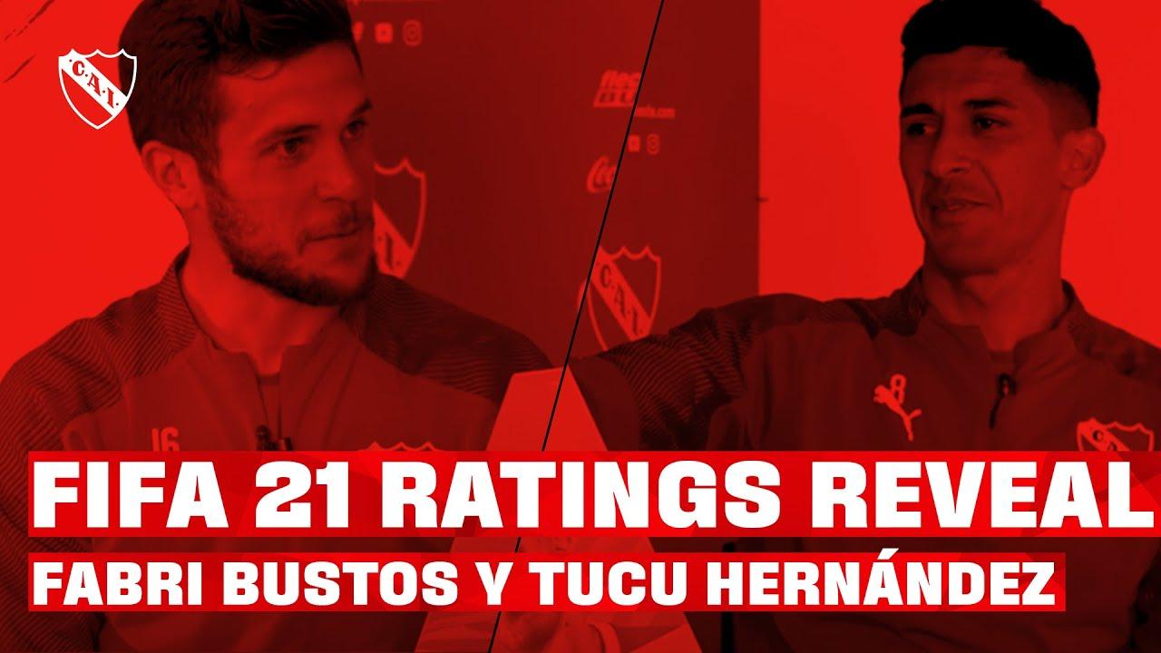 FIFA 21 RATINGS REVEAL | Fabri BUSTOS y el TUCU Hernandez REACCIONAN a sus CARTAS