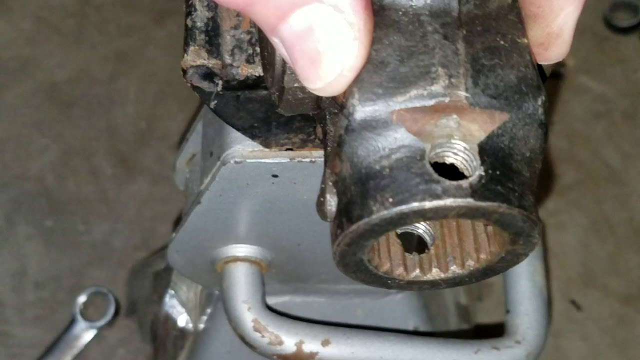 small resolution of rzr drive shaft yoke play fix